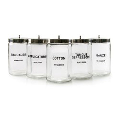 McKesson Sundry Jar 4-1/4 x 7 in Glass Clear Labeled