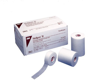 Medical Tape 3M Medipore H Water Resistant Cloth 4 Inch X 10 Yard White NonSterile