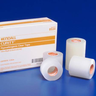 Medical Tape Curity Plastic 1/2 Inch X 10 Yard Transparent NonSterile