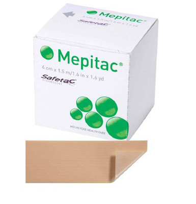 Medical Tape Mepitac Skin Friendly Silicone 1-1/2 X 59 Inch Tan NonSterile