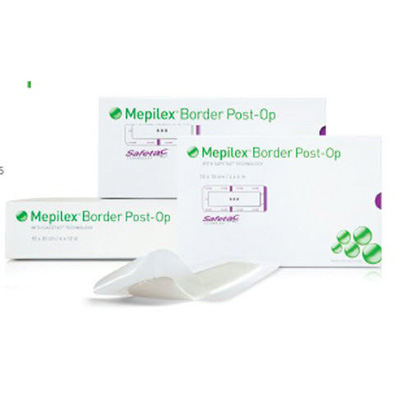 Mepilex Border Post-Op Foam Dressing, 4 X 8 Inch Rectangle Adhesive with Border Sterile