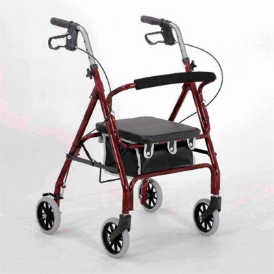 Merits 4 Wheel Rollator, Red