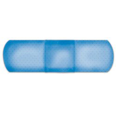 Metal Detectable Adhesive Strip American White Cross First Aid 1 X 3 Inch Fabric Rectangle Blue Sterile - Case of 1300