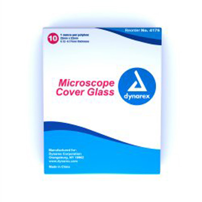 Dynarex Microscope Cover Glass 0.12-0.17 mm - Case of 50