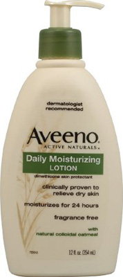 Moisturizer Aveeno 12 oz. Pump Bottle Unscented Lotion