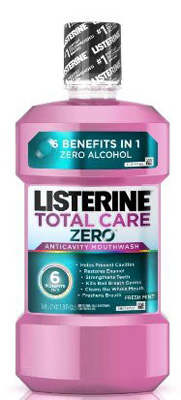Mouthwash ListerineTotal Care Zero 16.9 oz. Fresh Mint Flavor
