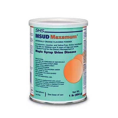 MSUD Oral Supplement MSUD Maxamum Orange Flavor 454 Gram Can Powder