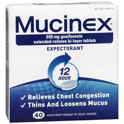 Mucinex Cough Relief 600 mg Strength Tablet 40 per Pack