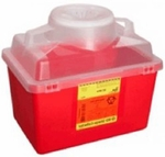BD Multi-purpose Sharps Container 1-Piece 11.5H X 12.5W X 8.5D Inch 14 Quart Red Base Funnel Lid - 305464 - Case of 20