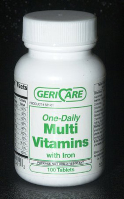 Multivitamin with Iron Supplement Geri-Care Tablet 100 per Bottle