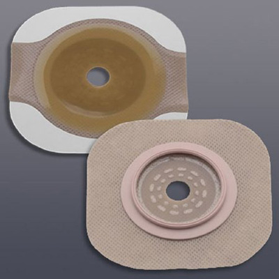 New Image Flextend Colostomy Barrier Cut-to-Fit, Standard Wear Tape 4 in Flange Yellow Code Up To 3-1/2 in Stoma
