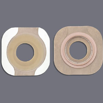 New Image FlexWear Colostomy Barrier Pre-Cut, Standard Wear Tape 1-3/4 in Flange Green Code Hydrocolloid 1-1/8 in Stoma