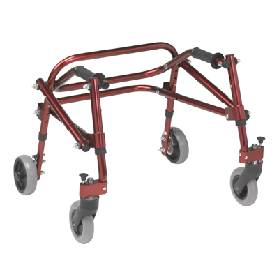 Nimbo 2G Lightweight Posterior Walker Extra Small Castle Red - Drive Medical - KA1200-2GCR