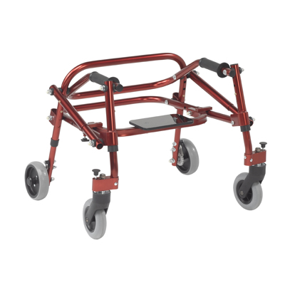 Nimbo 2G Lightweight Posterior Walker with Seat Extra Small Castle Red - Drive Medical - KA1200S-2GCR