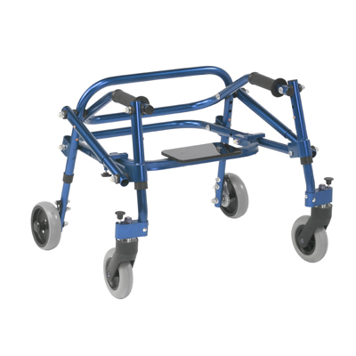 Nimbo 2G Lightweight Posterior Walker with Seat Extra Small Knight Blue - Drive Medical - KA1200S-2GKB