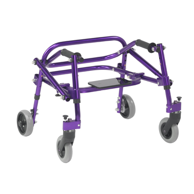 Nimbo 2G Lightweight Posterior Walker with Seat Medium Wizard Purple - Drive Medical - KA3200S-2GWP