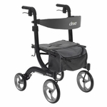 Drive Medical Nitro Euro Style Black Rollator Walker Model rtl10266bk