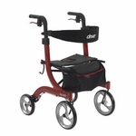 Drive Medical Nitro Euro Style Red Rollator Walker Model rtl10266