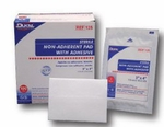 Dukal Non-Adherent Dressing Cotton 3 X 4 Inch Sterile - Case of 1200