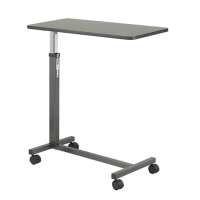 Drive Medical Non Tilt Top Silver Vein Overbed Table Model 13067