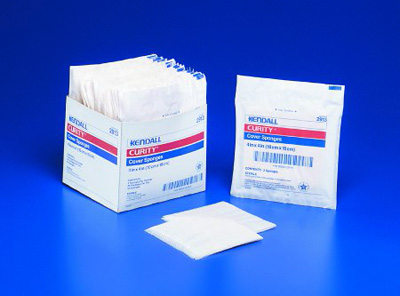 Nonwoven Sponge Curity Nonwoven / Cellulose 4 X 4 Inch Square NonSterile