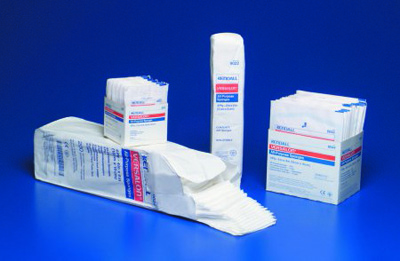 Curity NonWoven Sponge Polyester / Rayon 4-Ply 4 X 4 Inch Square Sterile - 8047 - Case of 160