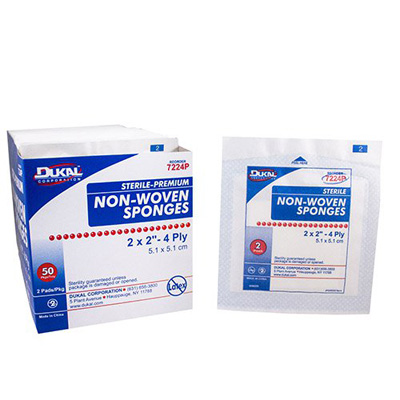 NonWoven Sponge Dukal Polyester / Rayon 4-Ply 2 X 2 Inch Square Sterile