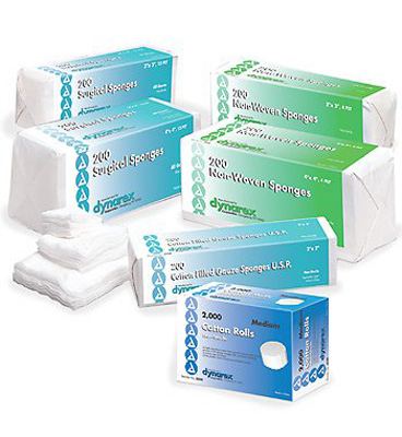 Dynarex NonWoven Sponge 4-Ply 2 X 2 Inch Square NonSterile - Case of 4000