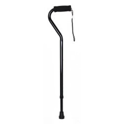 Offset Cane McKesson Aluminum 30 to 39 Inch Black