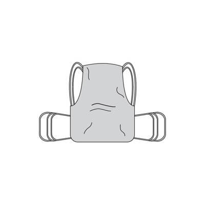 Drive Medical One Piece Commode Sling with Positioning Strap 13254m