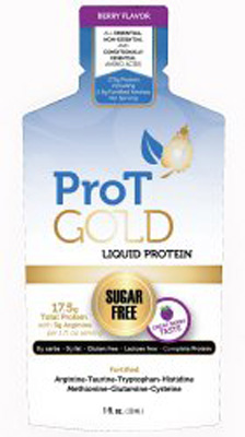 Oral Protein Supplement ProT Gold Berry 1 oz. Individual Packet Ready to Use