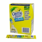 Crystal Light On the Go Lemonade Oral Supplement 0.18 oz. Individual Packet Powder - Case of 120