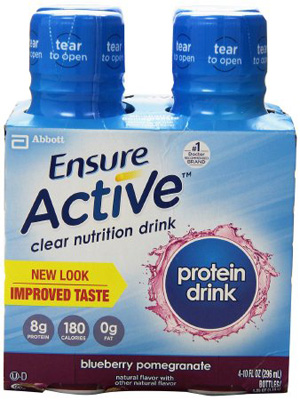 Oral Supplement Ensure Active Blueberry Pomegranate 10 oz. Bottle Ready to Use
