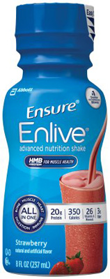 Ensure Enlive Vanilla 8 oz. Bottle Ready to Use Oral Supplement - Case of 24