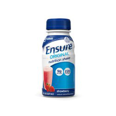 Oral Supplement Ensure Original Strawberries and Cream 8 oz. Bottle Ready to Use