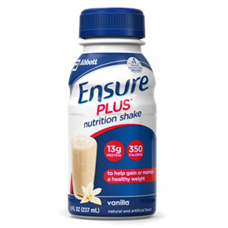 Ensure Plus Vanilla 8 oz. Bottle Ready to Use Oral Supplement  - 57263 - Case of 24
