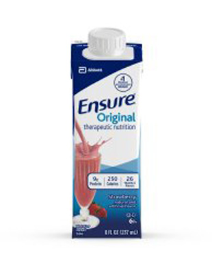 Oral Supplement Ensure Strawberry 8 oz. Recloseable Tetra Carton Ready to Use