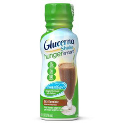 Oral Supplement Glucerna Hunger Smart Shake Rich Chocolate 10 oz. Bottle Ready to Use