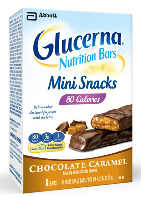 Oral Supplement Glucerna Mini Snacks Chocolate Caramel 0.70 oz. Individual Packet Ready to Use
