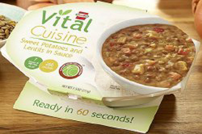 Oral Supplement Hormel Vital Cuisine Lentils and Sweet Potatoes 7.5 oz. Bowl Ready to Use