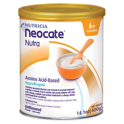 Oral Supplement Neocate Nutra Unflavored 400 Gram Can Powder