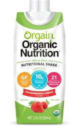 Oral Supplement OrgainOrganic Nutritional Shake Strawberries and Cream 11 oz. Carton Ready to Use