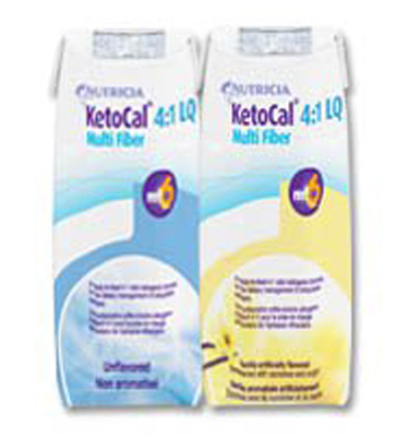 Oral Supplement / Tube Feeding Formula KetoCal 4:1 Unflavored 8 oz. Carton Ready to Use