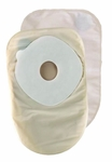 Ostomy Pouch ActiveLife One-Piece System 8 Inch Length 1-1/2 Inch Stoma Closed End Pre-Cut