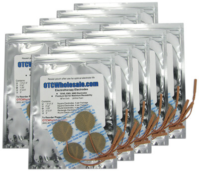 Roscoe Medical TENS Electrodes 1.25 inch Round, Tan Mesh Backed - 40 Pads