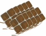 TENS Unit Electrodes 2 x 2 in Square, Tan Mesh Backed - 40 Pads