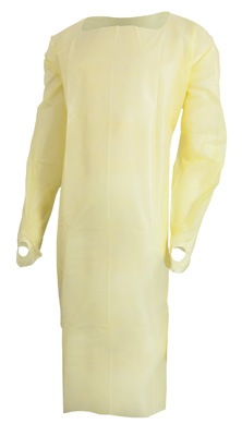 Over-the-Head Protective Procedure Gown McKesson One Size Fits Most Unisex NonSterile Yellow