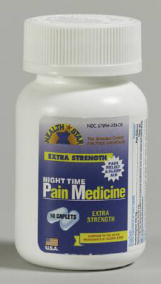 Pain Relief 500 mg Strength Acetaminophen / Diphenhydramine Caplet 50 per Bottle