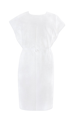 Patient Exam Gown McKesson One Size Fits Most Adult NonSterile White - 18-10846