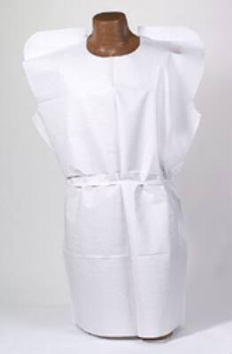 Patient Exam Gown Tidi Adult NonSterile White
